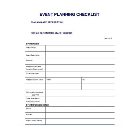 50 Professional Event Planning Checklist Templates ᐅ Template Lab Sle Wedding Planner Templates