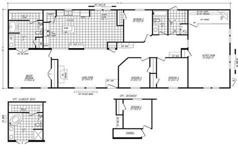 4 Bedroom Mobile Home Floor Plans by Best 4 Bedroom Wide Mobile Home Floor Plans New