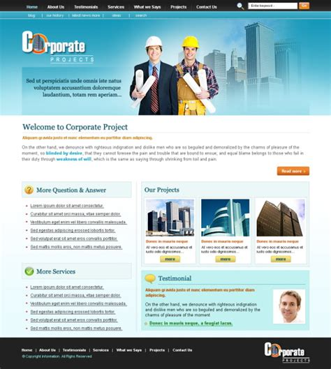 free templates for engineering website engineering css template 5698 construction