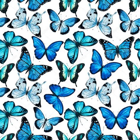 butterfly pattern stock watercolor butterfly pattern vector stock vector