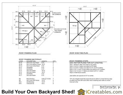 How To Build A 4 Sided Roof 10x10 5 Sided Corner Shed Plans