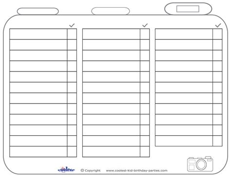 scavenger hunt checklist template blank printable photo scavenger hunt list