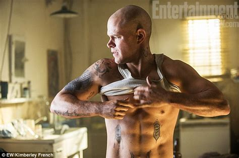 the rock matt damon matt damon shows his rock abs in new promo for