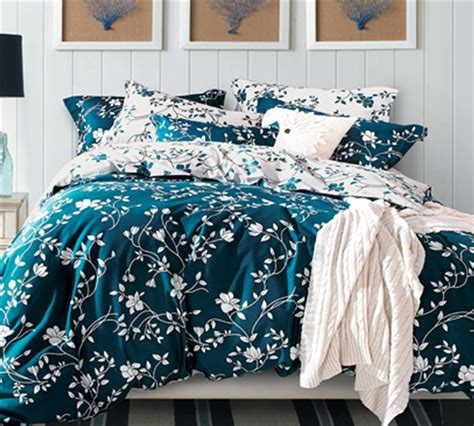 teal and white bedding moxie vines teal and white queen comforter