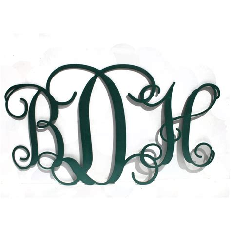 Porch Hangers personalized three letter monogram monogram initials