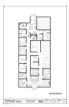 chiropractic office condo suite floorplan with front desk business hosp wash dryer possible to put
