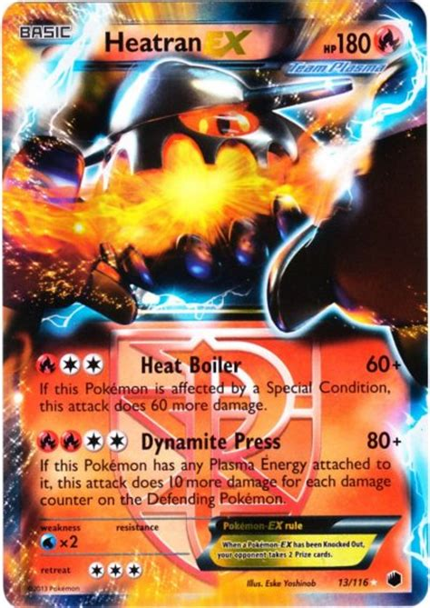 Kartu Original Heatran Ex Fa Plasma Freeze ultima carta trovata acquistata scambiata ottenuta