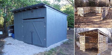 Low Cost Sheds by Low Cost Sheds Plus Workbench From Recycled Pallets