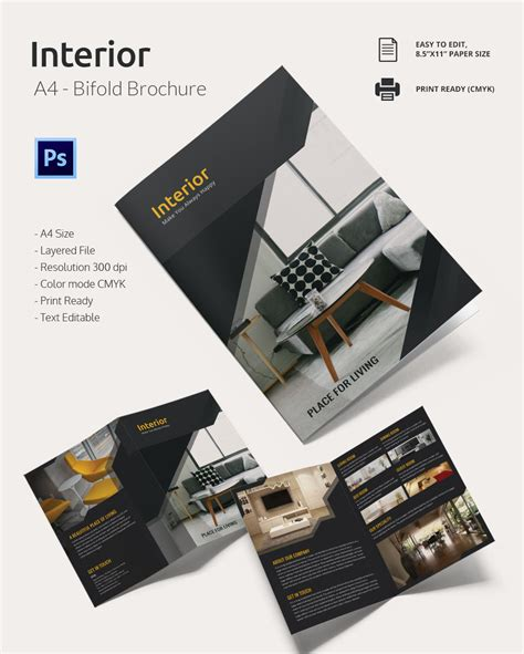 four page brochure template 7 best agenda templates