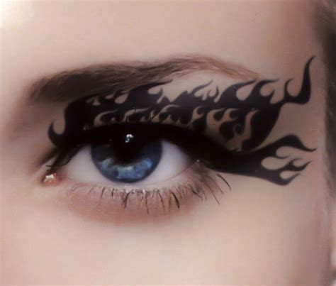 temporary eye tattoos flames eye liner temporary from dysfunctional doll