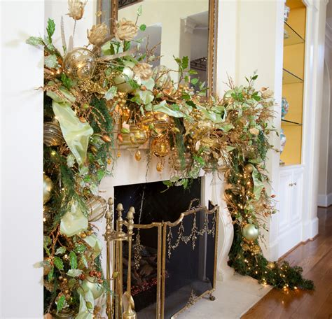 garland ideas gold with sparkles a magical christmas theme