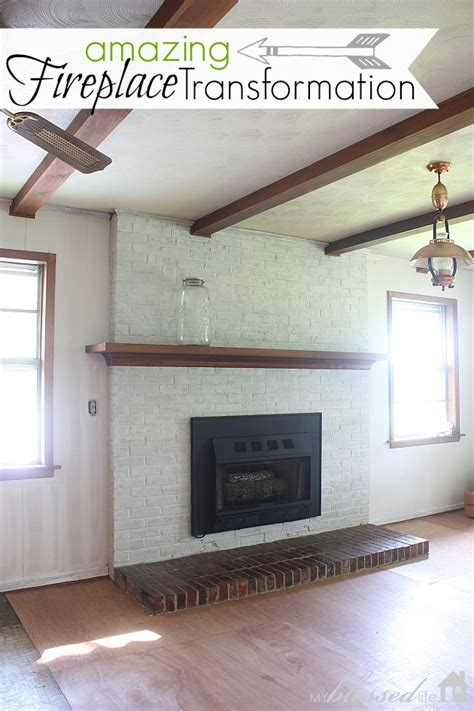 Transform Fireplace by Hometalk Transform A Brick Fireplace With A White Wash