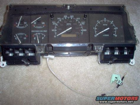 auto manual repair 1992 ford econoline e150 instrument cluster 1992 96 e150 part swapping ford truck enthusiasts forums