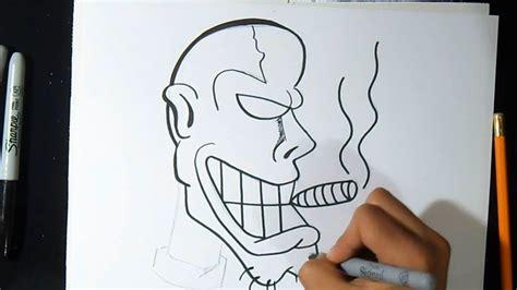 imagenes chidas y faciles para dibujar c 243 mo dibujar personaje con cigarro graffiti wizard art
