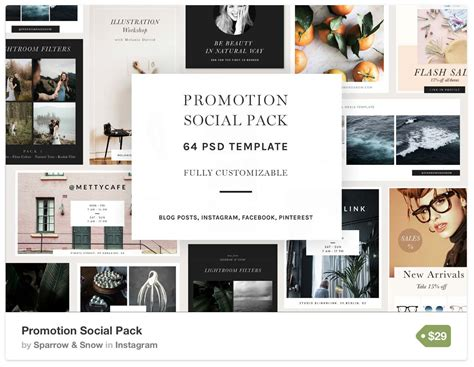Instagram Templates For Ecommerce Businesses Brands Bloggers Instagram Promo Template