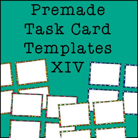 how to make task card templates task card frames and borders 14 template colors