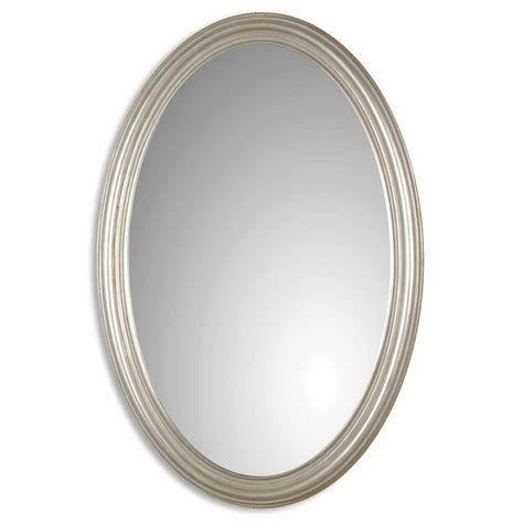 Uttermost Mirrors Oval uttermost franklin oval u silver mirror 08601