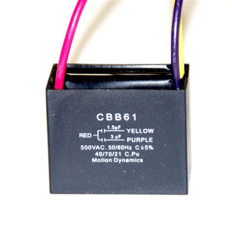 e185116 capacitor cbb61 1 5uf 3uf capacitor combination 3 wire