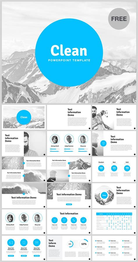 38 Best Free Powerpoint Template Images On Pinterest Free Power Point Presentation