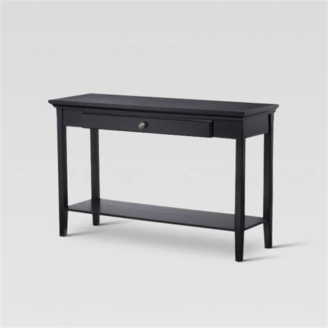 black sofa table target avington console table black threshold target