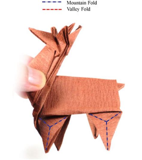 Reindeer Origami - how to make an origami reindeer page 41