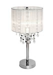 Bedside Stand shaded chandelier lamp by made with love designs ltd