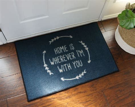 Home Is Where The Is Doormat by 2 X 3 Home Is Wherever I M With You Welcome Doormat