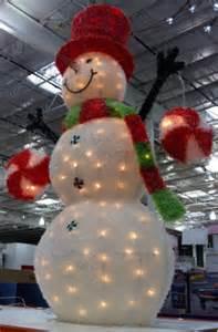 christmas light snowman santa claus and christmas
