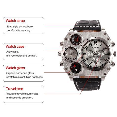 Jam Tangan Compass And Thermometer oulm jam tangan fashion pria dengan kompas dan thermometer