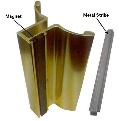 Magnet For Shower Door Gordon Glass Co Gold Frameless Shower Door Handle With Magnet And Stainless Steel Strike Plate
