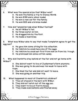 Charlotte's Web Test - Chapters 17-22 by The Froggy