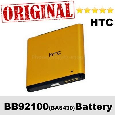 Baterai Battery Batre Htc Bb92100 Original 100 original htc bb92100 bas430 ba s430 battery