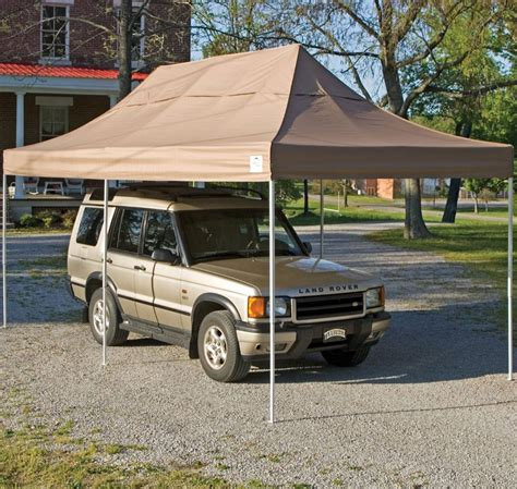 Pop Up Car Port shelterlogic 10 x 20 pop up carport in canopies