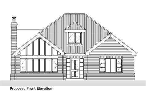 bungalow house sketch design architect services for new house in louth grimsby lincoln and lincolnshire