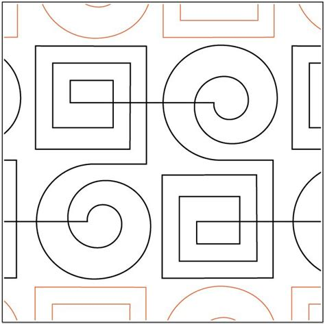free motion 5 templates modern key pantograph free motion quilting