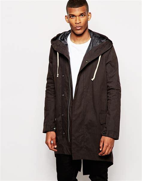 Asos Parka by Lyst Asos Fishtail Parka Jacket In Black In Black For