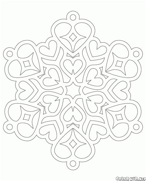 christmas heart coloring page coloring page snowflake with hearts