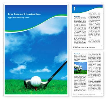 Pin Free Golf Flyer Template Templates On Pinterest Golf Journal Template