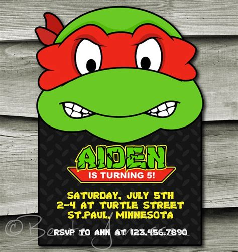 free printable birthday invitations ninja turtles printable teenage mutant ninja turtles inspired birthday