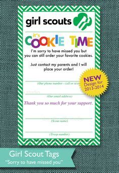 Girl Scout Cookie Sheet Printable Cookie Order Form Recipe Girl Scouts Pinterest Butter Scout Door Hanger Template