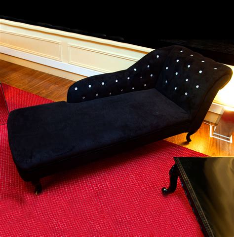 black velvet chair and a half black velvet chaise lounge ten and a half thousand