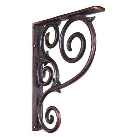 Wrought Iron Flatware by Jeffrey Alexander Scrolled Iron Bar Bracket Mcor1blk