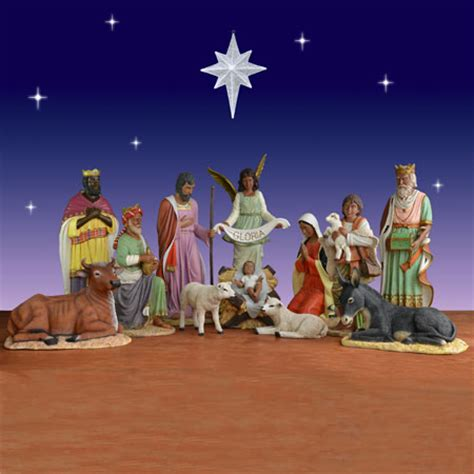 where to get life nativity set 11 american nativity set fiberglass