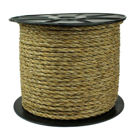 Cotton Rope Home Depot by Everbilt 3 8 In X 50 Ft Twisted Sisal Rope 73285