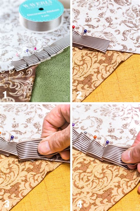 table cloth drapes how to use ribbon to trim a table cloth or curtain in my