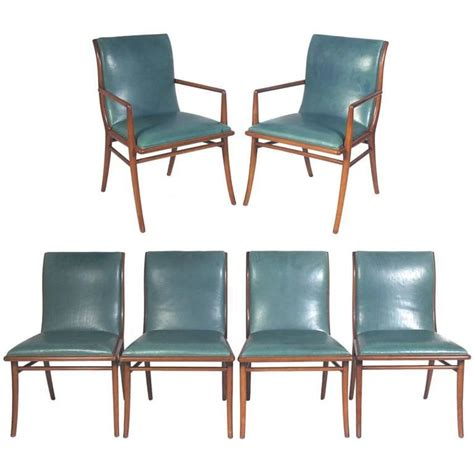 Klismos Dining Chairs Set Of Six Klismos Dining Chairs By T H Robsjohn Gibbings At 1stdibs