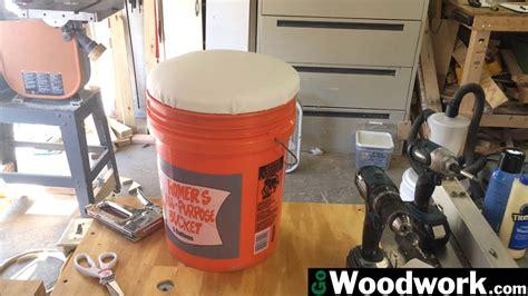 homemade  gallon bucket seat  woodwork
