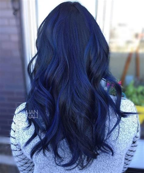 pictures of sapphire black hair with highlights blue sapphire balayage fancyfollicles hair pinterest