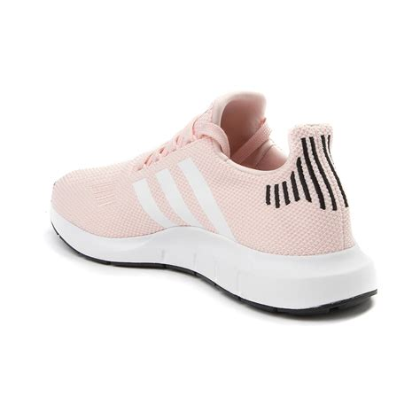 womens adidas run athletic shoe pinkwhiteblack 436671