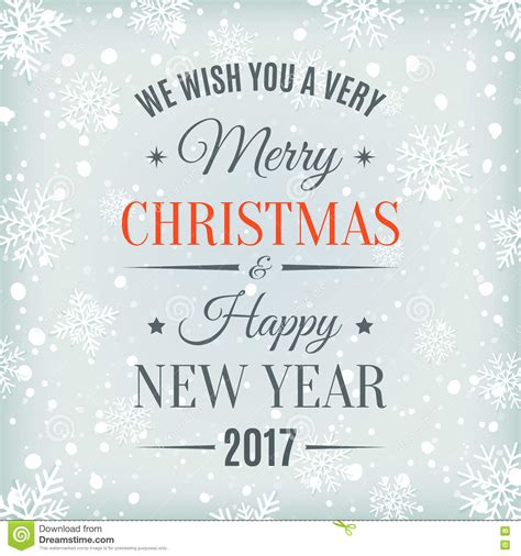 merry and happy new year card template merry and happy new year 2017 stock vector